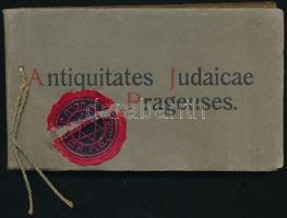 cca 1910 Antiquitates Judaicae Pragenses - régi prágai zsidó emlékek, 25 db képet tartalmazó füzet, szép állapotban, 9×15 cm