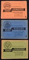 cca 1940 3 db térkép és munkafüzet