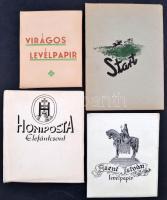 cca 1930 4 db teli csomag levélpapír: Szent István, Start, Honi posta, Virágos