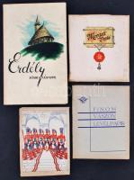 cca 1930 4 db teli csomag levélpapír: Erdély borítékkal, Merített posta, Pajtás, Finom vászon