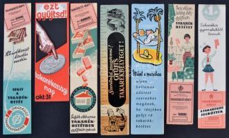 cca 1940-70 7 db bankos könyvjelző