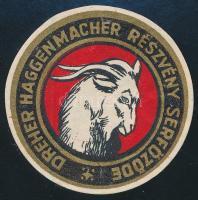 Dreher Haggenmacher Részvény Serfőzde címke, d: 5 cm