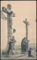 cca 1920 Esztergom, Kálvária, fotó, sarkán törésnyom, 24×15 cm