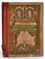 1886 Tanulók naptára Petőfi arcképével Bejegyzésekkel, laza félvászon kötésben