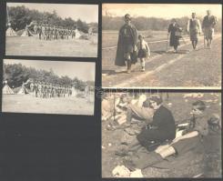 cca 1930 Cserkész életképek, 6 db, 8×14 és 15×24 cm közötti méretekben