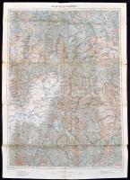 cca 1910 Kézdivásáhely és környékének katonai térképe 63x44 cm