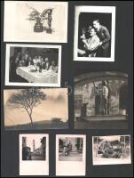 Vegyes régi fotó tétel, pesti épületek, életképek, tájképek, 6×8 és 13×11,5 cm közötti méretekben