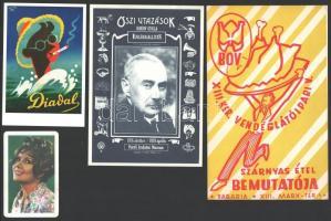 4 db reklámkiadvány (Ruttkai Éva, BOV, Didal, Krúdy Gyula emlékkiállítás)