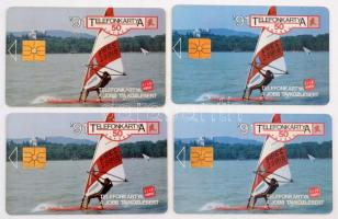 4 db Balaton szörf telefonkártya, klf kiadás