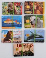 28 db kfl állat telefonkártya, közte 2000 példányos