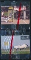 Malév és Telefonfülke telefonkártya használatlan, bontatlan csomagolásban 2 db