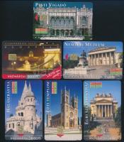 6db klf Budapest telefonkártya, ebből 5 db 2000 példányos