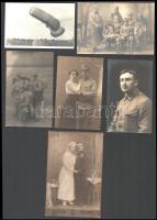cca 1900-1920 6 db katonai fotó