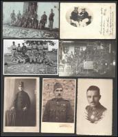cca 1900-1930 7 db katonai fotó lövészek, matrózok, csoportképek