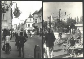 cca 1960 2 db Győr városképes fotó 16x24 cm