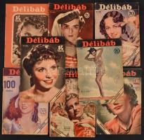 cca 1935-1941 A Délibáb című színházi hetilap 8 db száma
