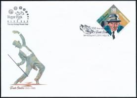 2015 Frank Sinatra bélyeg a Fred Astairet ábrázoló és visszavont FDC-n. Nagyon ritka, kb 500 db maradt!