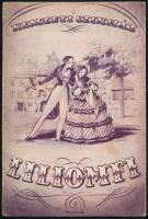 cca 1930-1940 A Nemzeti Színház műsorfüzetei: Liliomfi, Pénz! Pénz! Pénz!, sok Vajda M. Pál által készített színészfotóval