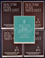 1939 A Magyar Iparművészet 5 db száma, kivehető Muskátlival