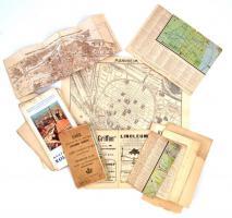 11 db régi térkép, katonaiak és külföldiek