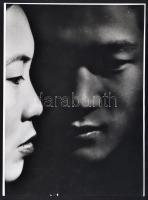 1930 Angelo (1894-1974): Arcok, fotó szakadással, jelzetlen fotóművészeti alkotás, 30×22 cm