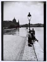 Vidareny Iván: Budapesti árvíz, fotó paszpartuban, 24×18 cm