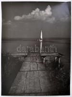 1940 Jelzés nélkül: Stég, fotó, 40×30 cm