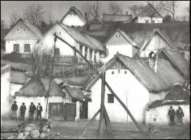 1930 Angelo (1894-1974): Hungarian village, pecséttel jelzett, feliratozva, 30×40 cm