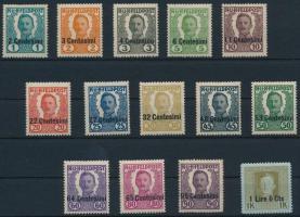 K.u.k. Feldpost Olaszország részére 1918 Kiadatlan sorozat 14 érték (70.000)