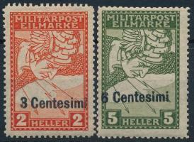 K.u.k. Feldpost Olaszország részére 1918 Sürgős 2 érték (12.000)