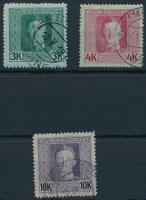 K.u.k. Feldpost 1917-1918 Károly fejes forgalmi sor 3K, 4K, 10K (13.900)