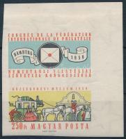 1959 FIP (II.) ívsarki vágott szelvényes bélyeg (3.500)
