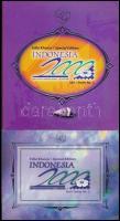 1998 Nemzetközi bélyegkiállítás INDONÉZIA 2000, Bandung (III): Drágakövek blokk + kisív ajándék szett