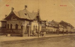 1910 Győr, Attila utca, Káldy Lajos építési irodája. W.L. (?) 57. (EK)