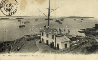 1915 Brest, Le Sémaphore et lEscadre / harbour, semaphore (fl)