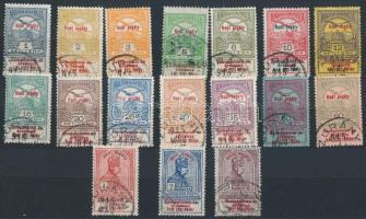 1914 Hadisegély sor nagyrészt ZURÁNY bélyegzéssel (Zurndorf) (15.000)