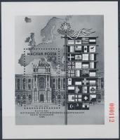 1986 Európai Biztonsági és Együttműködési Értekezlet - Bécs blokk feketenyomat piros sorszámmal (45.000)