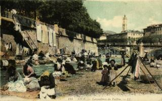 1911 Nice, Nizza; Lavandieres du Paillon / washerwomen at the river, folklore (fa)