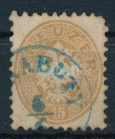 1864 15kr kék (PA)RABUTY (Gudlin 600 pont) (rövid sarokfog)