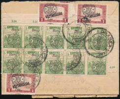 Nagyvárad 1921 Ajánlott levél Nagyváradról Szeghalomra. Signed: Bodor