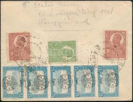 Nagyvárad 1921 Cenzúrás ajánlott levél Nagyváradról Szeghalomra. Signed: Bodor