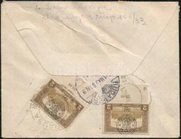 Nagyvárad 1921 Cenzúrás ajánlott levél Nagyváradról Budapestre. Signed: Bodor
