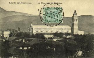 1913 Shkoder, Shkodra, Skutari; Le Catedrale / church