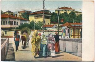 Sarajevo, Strassenbild in Bosnien / street view, folklore. Leporellocard