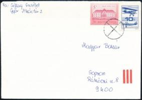1988 Repüléstörténet 10Ft törött szárnytartó lemezhibával levélen (10.000)