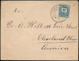 1892 Színesszámú 10kr levélen az USA-ba SÁTORALJA ÚJHELY -CLEVELAND OHIO