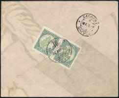 1926 Koronás Madonna 5000K pár ajánlott levélen Zágrábba