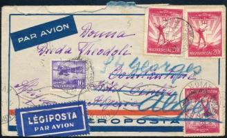 1934 Légi levél Algériába, továbbküldve
