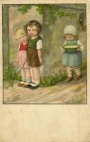 Children art postcard. AR. No. 2471. s: Pauli Ebner (EB)