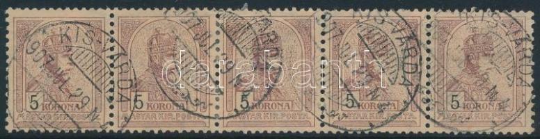 1900 Turul 5K vízszintes ötöscsík (55.000) (falccal megerősítve / strengthened with hinge)